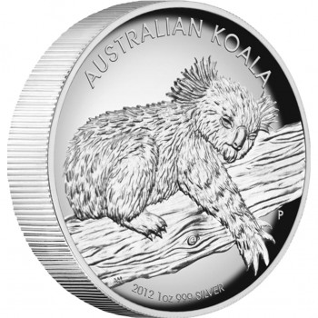 2012 High Relief 1oz Silver Koala Proof Coin