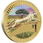 2012 YOUNG COLLECTORS ANIMAL ATHLETES – CHEETAH COIN