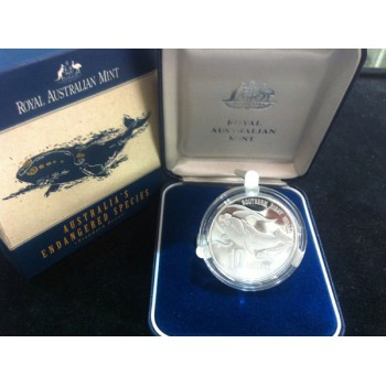 1996 AUSTRALIA'S ENDANGERED SPECIES SILVER PROOF - SOUTHERN RIGHT WHALE