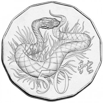 2013 Year of the Snake 50c Tetra-decagon Uncirculated Coin