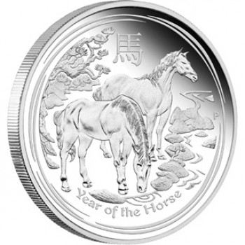 2014 Australian Chinese Year of the Horse 5oz Silver Proof Coin