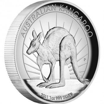 2011 AUSTRALIAN KANGAROO 1oz SILVER HIGH RELIEF PROOF COIN