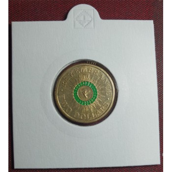2014 $2 Remembrance Day Coloured Coin