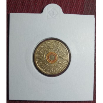 2015 $2 Remembrance Day Coloured Coin