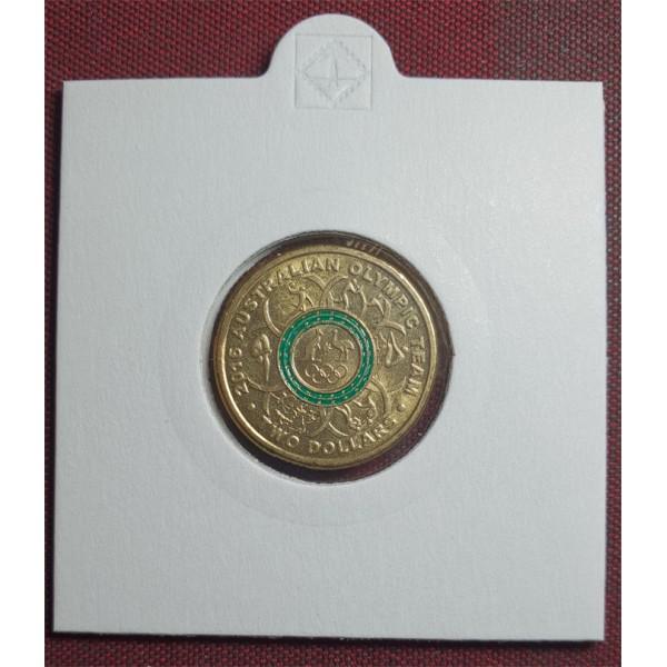 Green 2016 $2 RAM Olympic  Coloured $2 coin