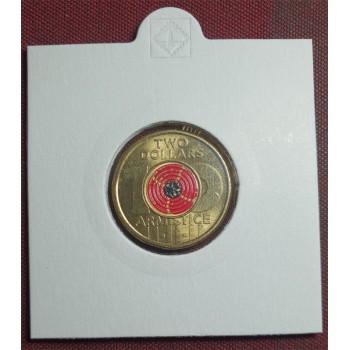 2018 $2 Centenary Of Armistice Coloured Coin
