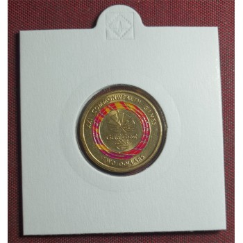 2018 $2 XXI Gold Coast Commonwealth Games Coloured Coin