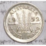 1952 AUSTRALIAN PRE DECIMAL SILVER 3-PENCE