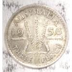 1956 AUSTRALIAN PRE DECIMAL SILVER 3-PENCE