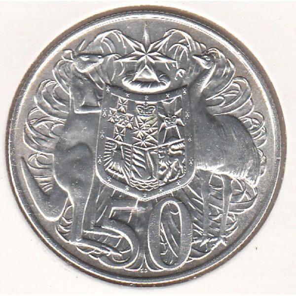 1966 Australian Round Silver 50c Coin Sydney Coins