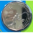 2006 Australian Commonwealth Games 50c Uncirculated Coin - Rugby 7's