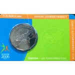 2006 Australian Commonwealth Games 50c Uncirculated Coin - Triathlon