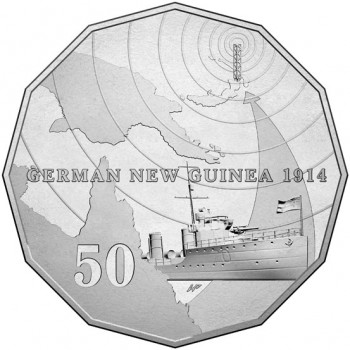 2014 Australia At War 50c Uncirculated Coin - German New Guinea