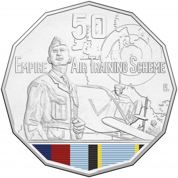 2015 50c Australian At War Empire Air Training Coin