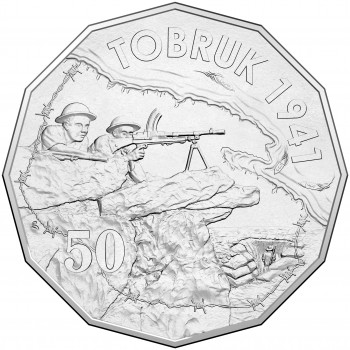 2015 50c Australian At War Tobruk Coin