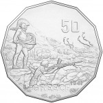 2015 50c Australia At War Greece Coin
