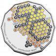 2015 50c World Money Fair Special Edition Coloured Coin