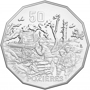 2016 50c The Battle of Pozieres Uncirculated Coin