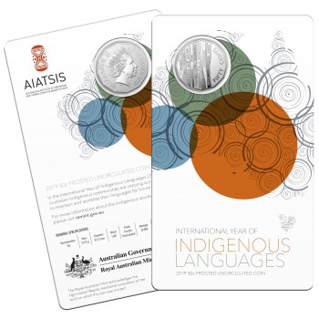 2019 50c  International Year of Indigenous Languages Uncirculated Coin