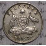 1953 AUSTRALIAN PRE DECIMAL SILVER 6-PENCE