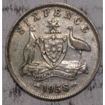1958 AUSTRALIAN PRE DECIMAL SILVER 6-PENCE