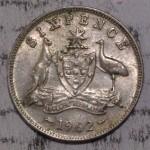 1962 AUSTRALIAN PRE DECIMAL SILVER 6-PENCE