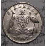 1963 AUSTRALIAN PRE DECIMAL SILVER 6-PENCE