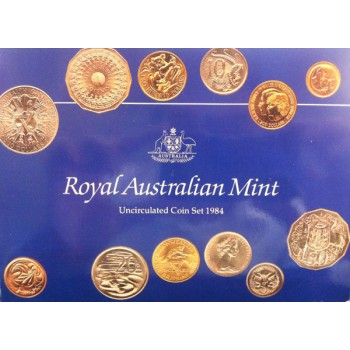 1984 Australian 6-Coin Yellow Plastic Uncirculated Set