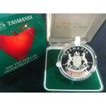 1991 AUSTRALIAN STATE SERIES $10 SILVER PROOF COIN - TASMANIA