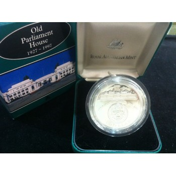 1997 AUSTRALIAN OLD PARLIAMENT HOUSE SILVER PROOF 1oz COIN