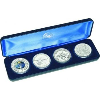 2001 Australian 4-Coin Silver Millennium Set