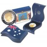 2004 Australian 50th Anniversary of QEII Royal Visit Florin Coin