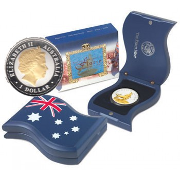 2004 Australian 50th Anniversary of QEII Royal Visit Florin Coin