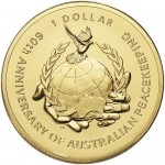 2007 60 Years of Australian Peacekeeping $1 Uncirculated Coin