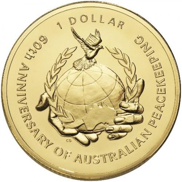 60th Anniversary of Australian Peacekeeping 2007 Dollar  RAM $1 UNC Coin