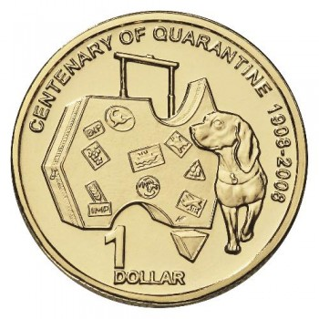 2008 AQIS Centenary of Australian Quarantine $1 Uncirculated Coin