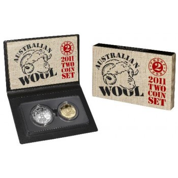 2011 Australian Wool 2-Coin Proof Set
