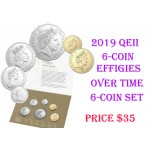 2019 Australian 6-Coin Uncirculated Set - Effigies Over Time