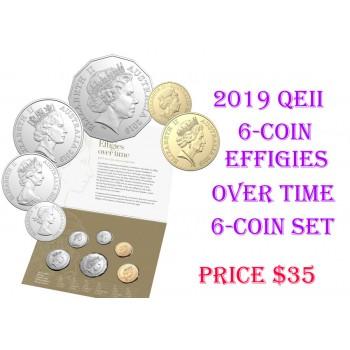 2019 Australian 6-Coin Uncirculated Set - Effigies Over Time
