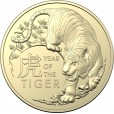 2022 $1 Lunar Year of the Tiger 2-Coin Uncirculated Coin
