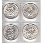 1960-1963 Australian Silver One Shilling 4-Coin Set aUNC