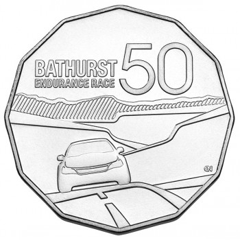 2013 50 Years of the Bathurst Endurance Race 50c Uncirculated Coin