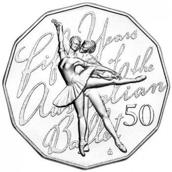 2012 50th Anniversary of the Australian Ballet 50c Uncirculated Coin