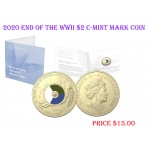 2020 $2 75th Anniversary of the End of WWII C-Mint Mark Coin