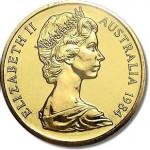 1984 Australian $1 Coin Uncirculated - First Year