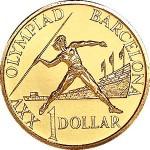 1992 Australian $1 Uncirculated Coin - Barcelona Olympics
