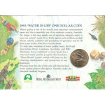 1993 Australian $1 Uncirculated Coin BBC CARD - Water is Life Landcare