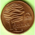 1993 Australian $1 Uncirculated S-Mint Mark Coin - Water is Life Landcare