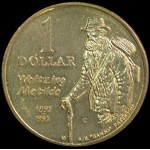 1995 Australian Waltzing Matilda $1 Uncirculated Coin - C Mint Mark