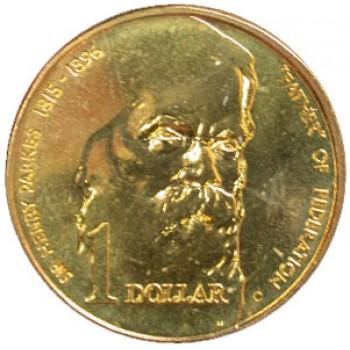 1996 Australian Sir Henry Parkes $1 Uncirculated Coin - S Mint Mark